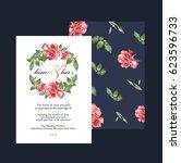 wedding invitation card | Shutterstock .eps vector #623596733