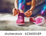 fitness athletes foot close up. ... | Shutterstock . vector #623600189
