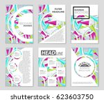 abstract vector layout... | Shutterstock .eps vector #623603750