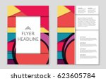 abstract vector layout... | Shutterstock .eps vector #623605784