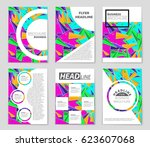 abstract vector layout... | Shutterstock .eps vector #623607068