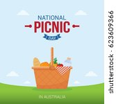 national picnic day vector... | Shutterstock .eps vector #623609366