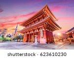 Temple Gate In Tokyo  Japan.