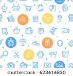 ecommerce online service... | Shutterstock .eps vector #623616830