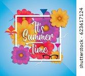 """it's summer time"" vector... | Shutterstock .eps vector #623617124"