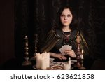 Young Woman Witch Divination...