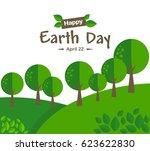 earth day concept illustration... | Shutterstock .eps vector #623622830