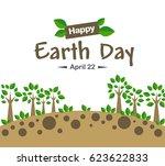 earth day concept illustration... | Shutterstock .eps vector #623622833