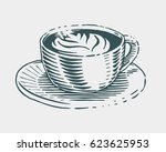 hand drawn coffee cup... | Shutterstock .eps vector #623625953