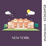 the metropolitan museum.vector... | Shutterstock .eps vector #623626928