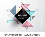 vector of abstract geometric... | Shutterstock .eps vector #623629898