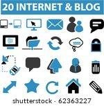 20 internet   blog signs. vector