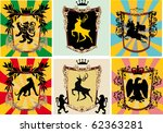 set of decorated frames with... | Shutterstock .eps vector #62363281