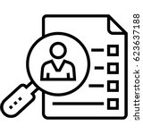 case study vector icon   Shutterstock .eps vector #623637188