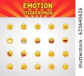 emotion sticker pack. unique... | Shutterstock .eps vector #623640626