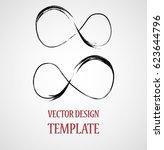hipster sign. grunge infinity... | Shutterstock .eps vector #623644796