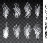 smoke set isolated on... | Shutterstock . vector #623644994