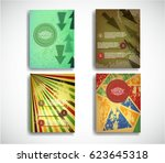 trendy cards design . grunge... | Shutterstock .eps vector #623645318