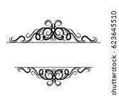 vintage vector swirl frame | Shutterstock .eps vector #623645510