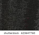 corrupted source code. modern... | Shutterstock .eps vector #623647760
