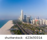 abu dhabi downtown view from... | Shutterstock . vector #623650316