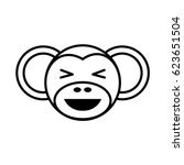 outline monkey head animal | Shutterstock .eps vector #623651504