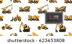 seamless pattern with road... | Shutterstock .eps vector #623653808
