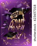 graduation 2017 banner with... | Shutterstock .eps vector #623657318