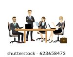 group of working people ... | Shutterstock .eps vector #623658473
