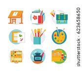 art and craft icons set  eps 8... | Shutterstock .eps vector #623658650