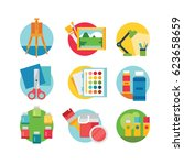 art and craft icons set  eps 8... | Shutterstock .eps vector #623658659