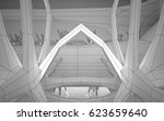 abstract white interior... | Shutterstock . vector #623659640