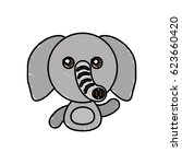 draw elephant animal comic | Shutterstock .eps vector #623660420