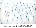 linking entities. networking ... | Shutterstock . vector #623669063