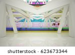 abstract architectural interior ... | Shutterstock . vector #623673344