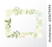 rectangular floral frame...   Shutterstock .eps vector #623679494