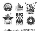 retro audio record  studio... | Shutterstock .eps vector #623680223
