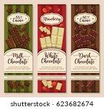 chocolate packaging vector... | Shutterstock .eps vector #623682674
