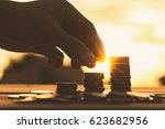 saving money concept preset by... | Shutterstock . vector #623682956