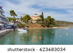 palaia epidauros village... | Shutterstock . vector #623683034