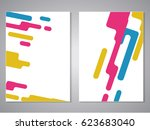 vector covers with geometric... | Shutterstock .eps vector #623683040