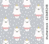 cute seamless pattern with... | Shutterstock .eps vector #623685248
