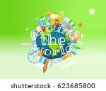 vacation travelling concept.... | Shutterstock .eps vector #623685800