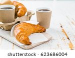Croissant And Coffee To Go...
