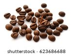 close up view of coffee beans...   Shutterstock . vector #623686688