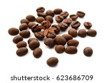 coffee beans isolated | Shutterstock . vector #623686709