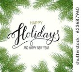 holidays greeting card for... | Shutterstock . vector #623687960