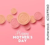 happy mothers day background... | Shutterstock .eps vector #623699060