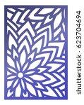 vector laser cut panel. pattern ...   Shutterstock .eps vector #623704694