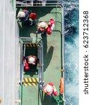 vessel crew abandon ship.... | Shutterstock . vector #623712368